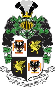The coat of arms of the Von Ahrenheim family